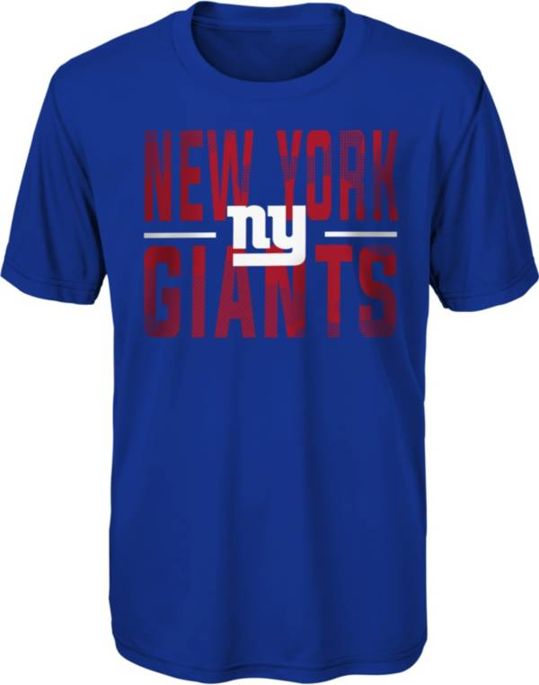 NFL Team Apparel Youth New York Giants Blue Grand Central T-Shirt product image