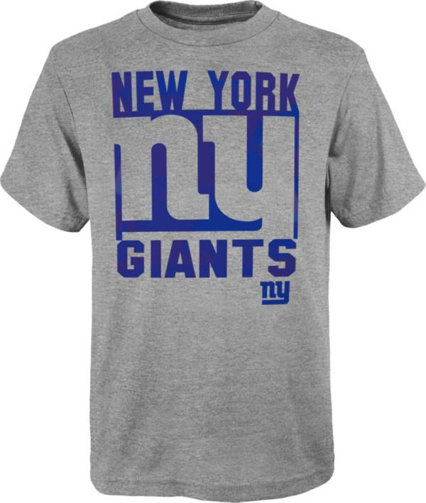 NFL Team Apparel Youth New York Giants Grey Element T-Shirt product image