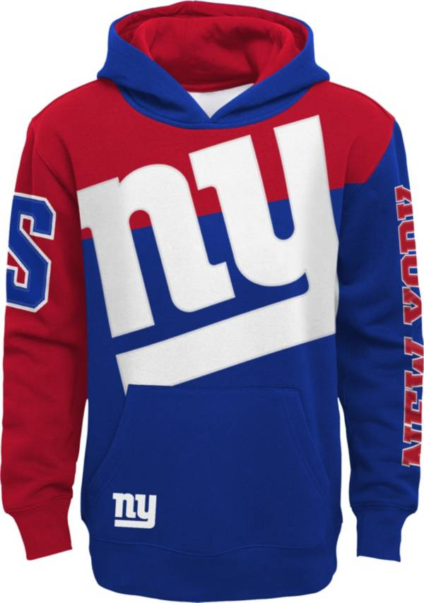NFL Team Apparel Youth New York Giants QB Sneak Pullover Hoodie product image
