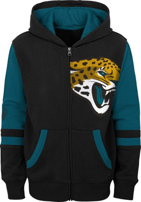 NFL Team Apparel Youth Jacksonville Jaguars Color Block Full-Zip Hoodie product image