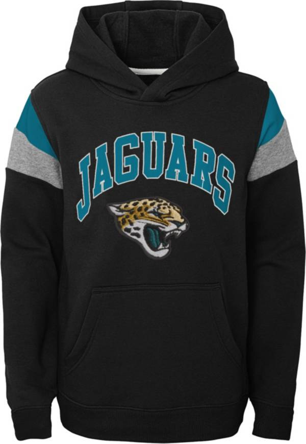 NFL Team Apparel Youth Jacksonville Jaguars Retro Color Block Pullover Hoodie product image