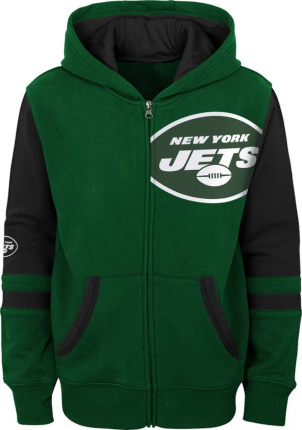 NFL Team Apparel Youth New York Jets Color Block Full-Zip Hoodie product image