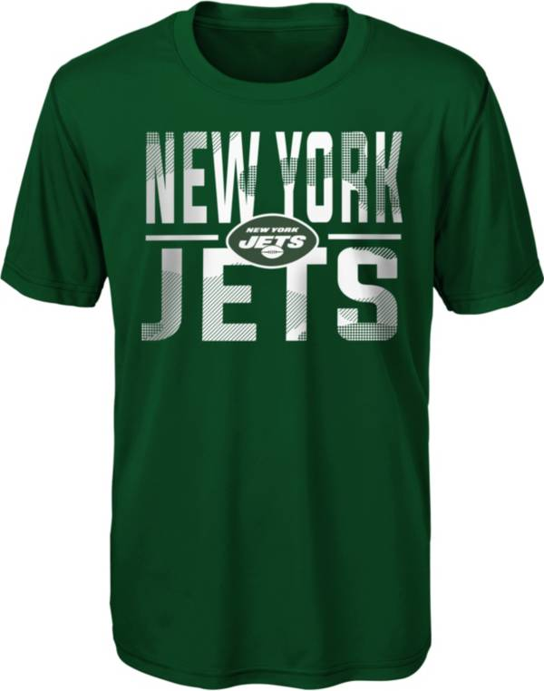 NFL Team Apparel Youth New York Jets Green Grand Central T-Shirt product image
