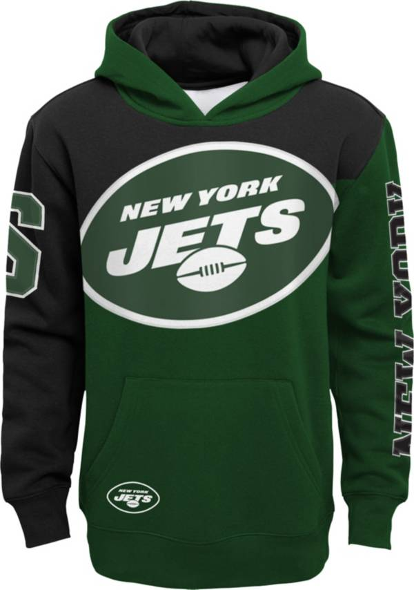 NFL Team Apparel Youth New York Jets QB Sneak Pullover Hoodie product image