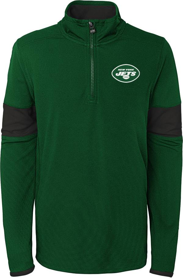 NFL Team Apparel Youth New York Jets Yard Line Green Quarter-Zip product image