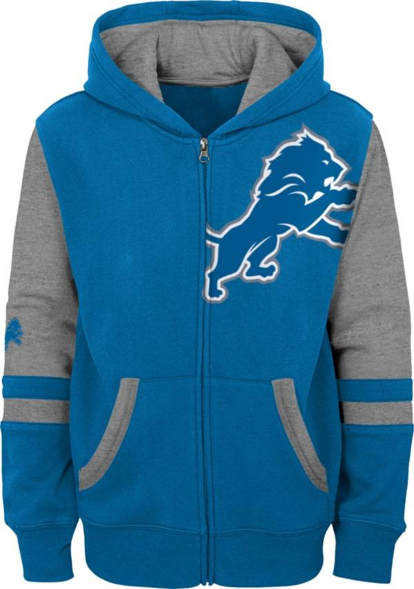 NFL Team Apparel Youth Detroit Lions Color Block Full-Zip Hoodie product image