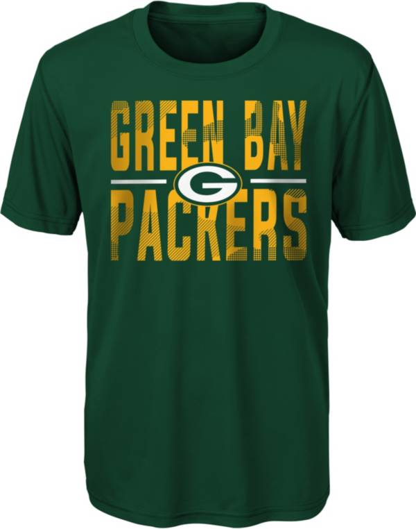 NFL Team Apparel Youth Green Bay Packers Green Grand Central T-Shirt product image