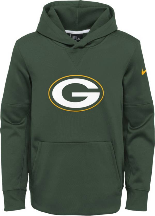 Nike Youth Green Bay Packers Logo Essential Green Hoodie product image
