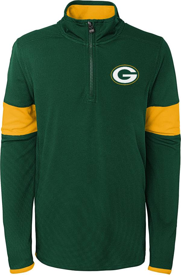 NFL Team Apparel Youth Green Bay Packers Yard Line Green Quarter-Zip product image