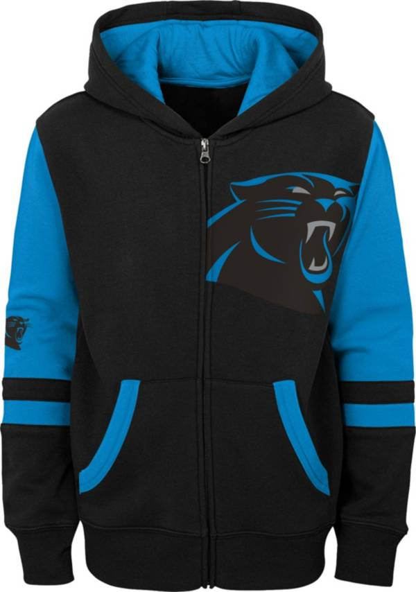 NFL Team Apparel Youth Carolina Panthers Color Block Full-Zip Hoodie product image