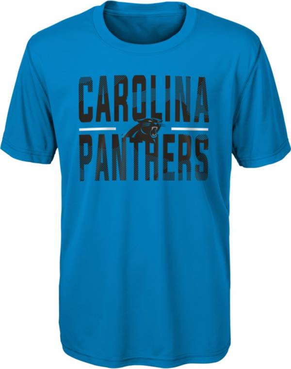 NFL Team Apparel Youth Carolina Panthers Blue Grand Central T-Shirt product image