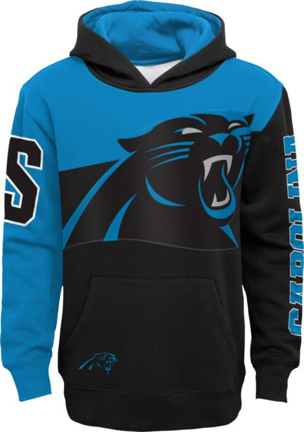 NFL Team Apparel Youth Carolina Panthers QB Sneak Pullover Hoodie product image
