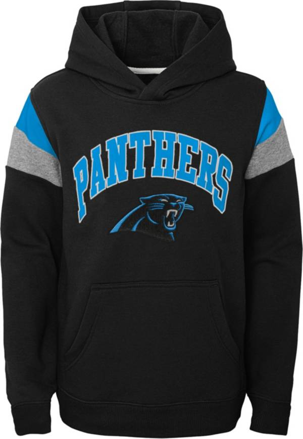 NFL Team Apparel Youth Carolina Panthers Retro Color Block Pullover Hoodie product image