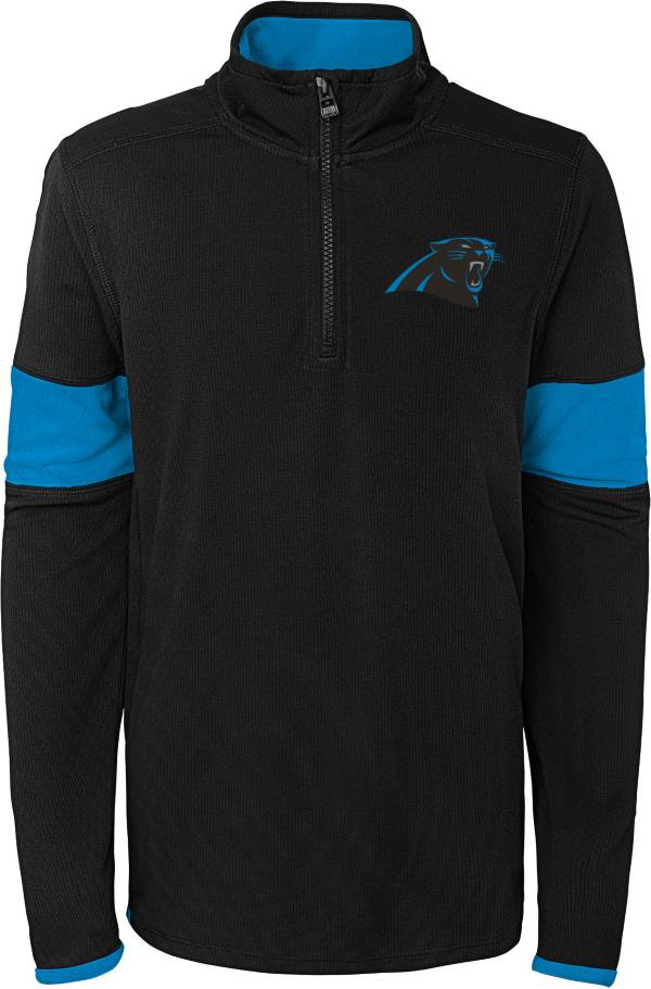 NFL Team Apparel Youth Carolina Panthers Yard Line Black Quarter-Zip product image