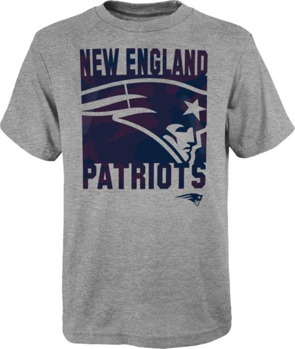 NFL Team Apparel Youth New England Patriots Grey Element T-Shirt product image