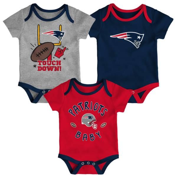 NFL Team Apparel Infant New England Patriots 3-Piece Creeper Set product image