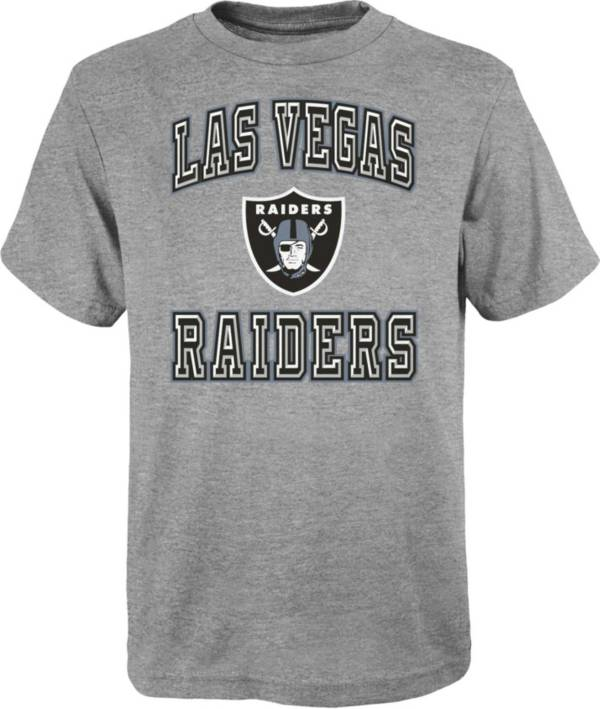 NFL Team Apparel Youth Las Vegas Raiders Chiseled Grey T-Shirt product image