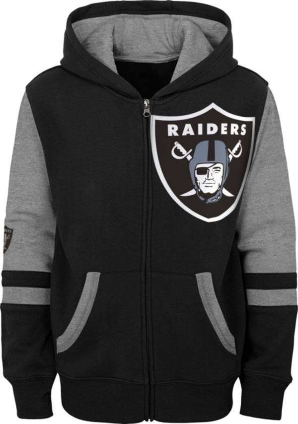 NFL Team Apparel Youth Las Vegas Raiders Color Block Full-Zip Hoodie product image
