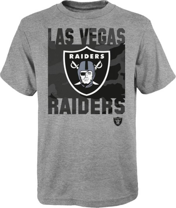 NFL Team Apparel Youth Las Vegas Raiders Grey Element T-Shirt product image