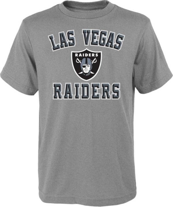 NFL Team Apparel Youth Las Vegas Raiders Bevel Grey T-Shirt product image
