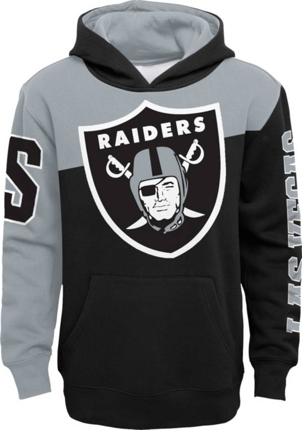 NFL Team Apparel Youth Las Vegas Raiders QB Sneak Pullover Hoodie product image