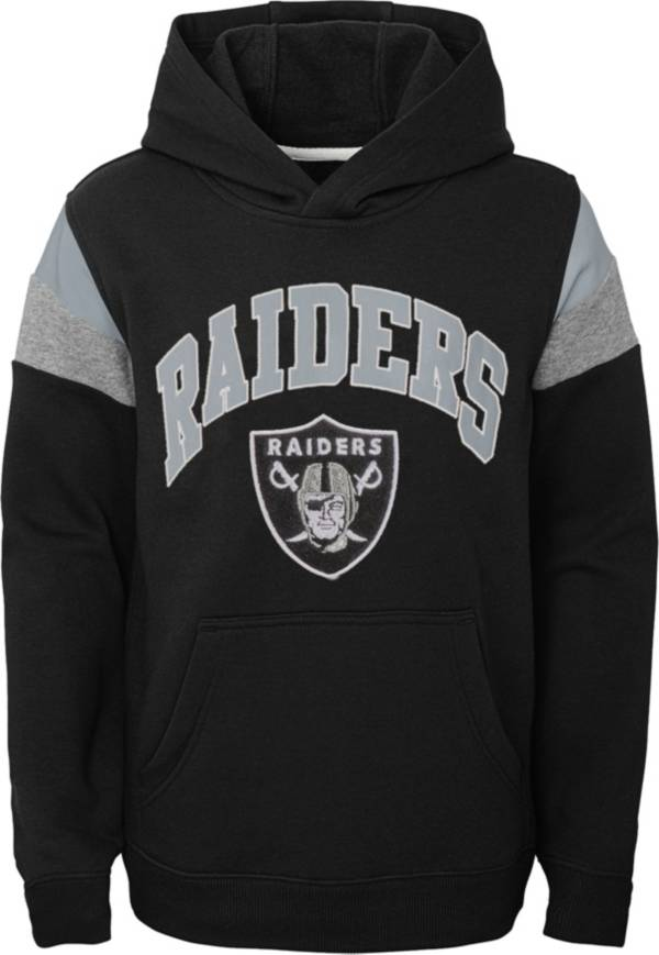 NFL Team Apparel Youth Las Vegas Raiders Retro Color Block Pullover Hoodie product image