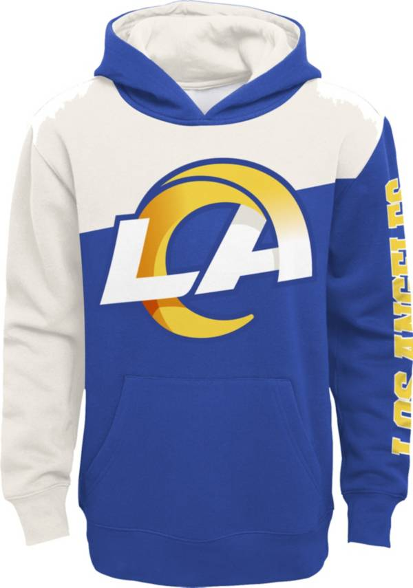 NFL Team Apparel Youth Los Angeles Rams QB Sneak Pullover Hoodie product image
