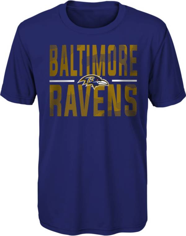 NFL Team Apparel Youth Baltimore Ravens Purple Grand Central T-Shirt product image