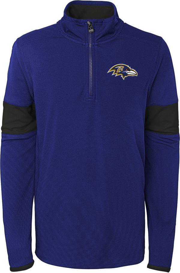 NFL Team Apparel Youth Baltimore Ravens Yard Line Purple Quarter-Zip product image