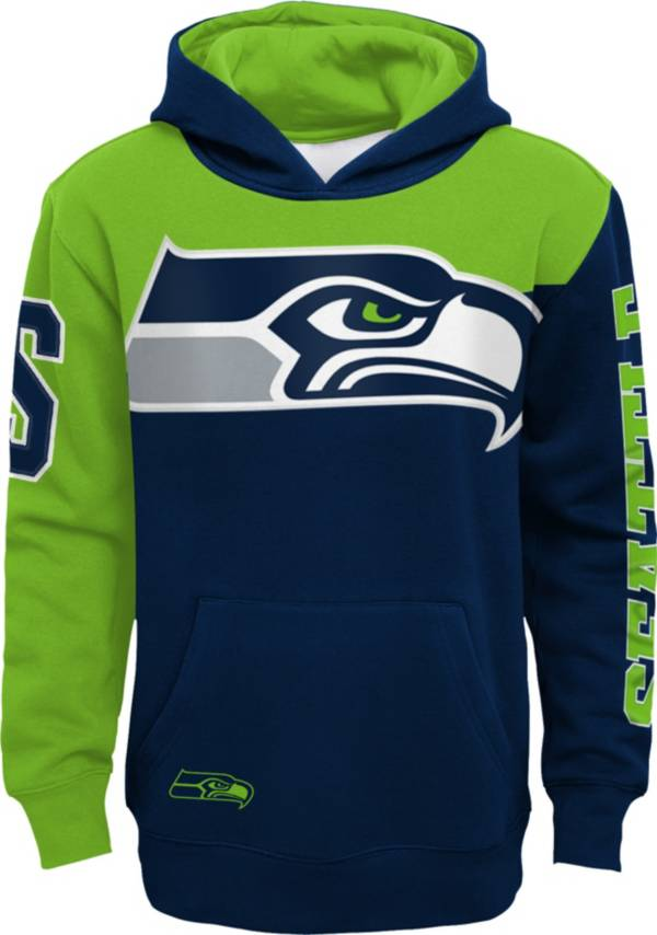 NFL Team Apparel Youth Seattle Seahawks QB Sneak Pullover Hoodie product image