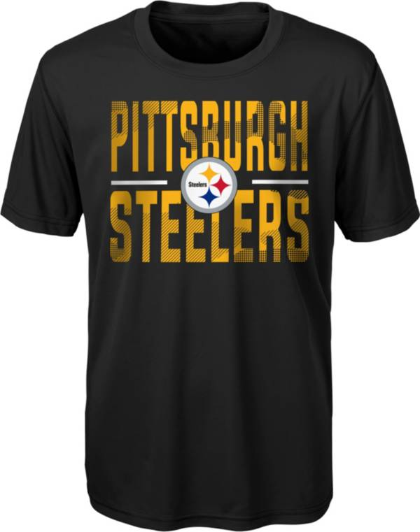 NFL Team Apparel Youth Pittsburgh Steelers Grand Central Black T-Shirt product image