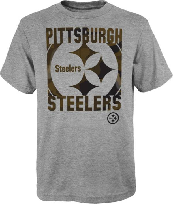 NFL Team Apparel Youth Pittsburgh Steelers Grey Element T-Shirt product image