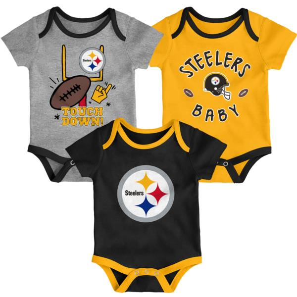 NFL Team Apparel Infant Pittsburgh Steelers 3-Piece Creeper Set product image