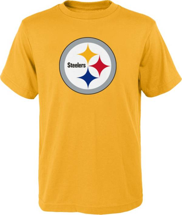 NFL Team Apparel Youth Pittsburgh Steelers Gold Team Logo T-Shirt product image