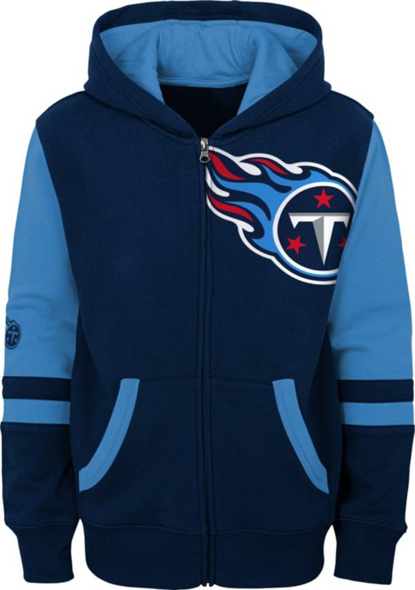 NFL Team Apparel Youth Tennessee Titans Color Block Full-Zip Hoodie product image