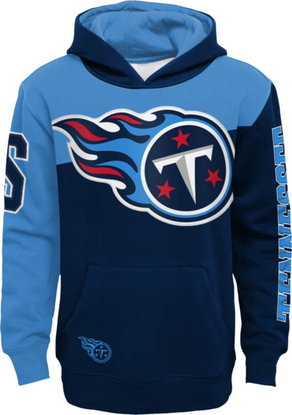 NFL Team Apparel Youth Tennessee Titans QB Sneak Pullover Hoodie product image