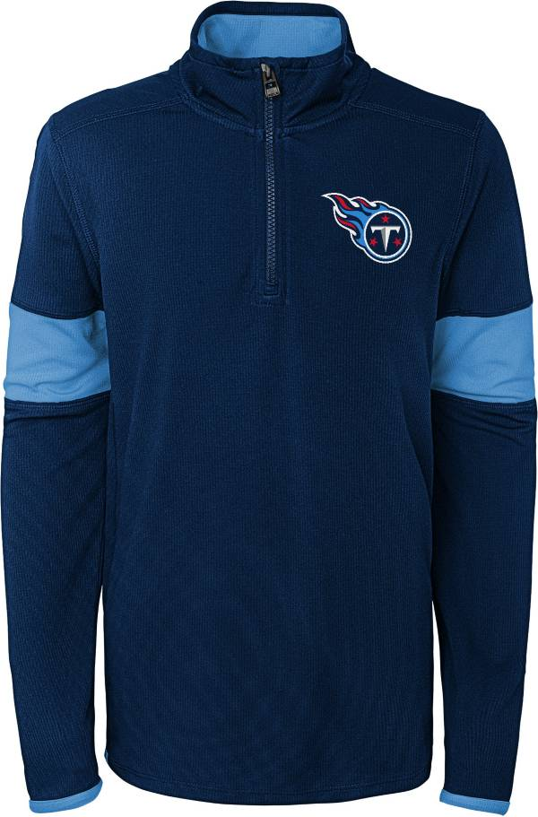 NFL Team Apparel Youth Tennessee Titans Yard Line Navy Quarter-Zip product image