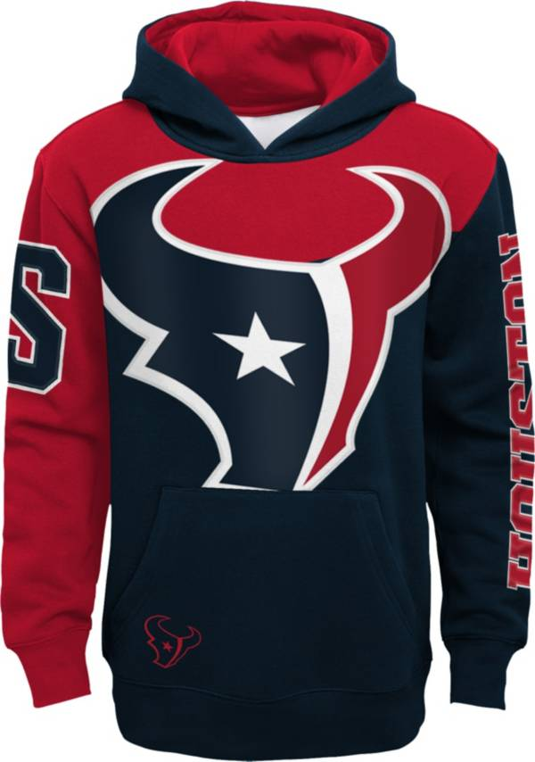 NFL Team Apparel Youth Houston Texans QB Sneak Pullover Hoodie product image