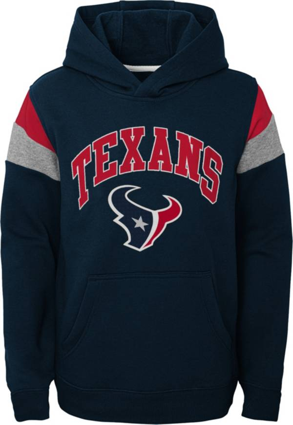 NFL Team Apparel Youth Houston Texans Retro Color Block Pullover Hoodie product image