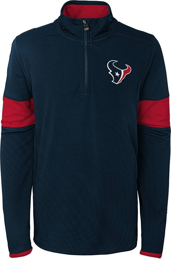 NFL Team Apparel Youth Houston Texans Yard Line Navy Quarter-Zip product image