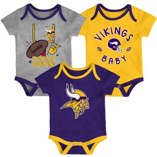 NFL Team Apparel Infant Minnesota Vikings 3-Piece Creeper Set product image