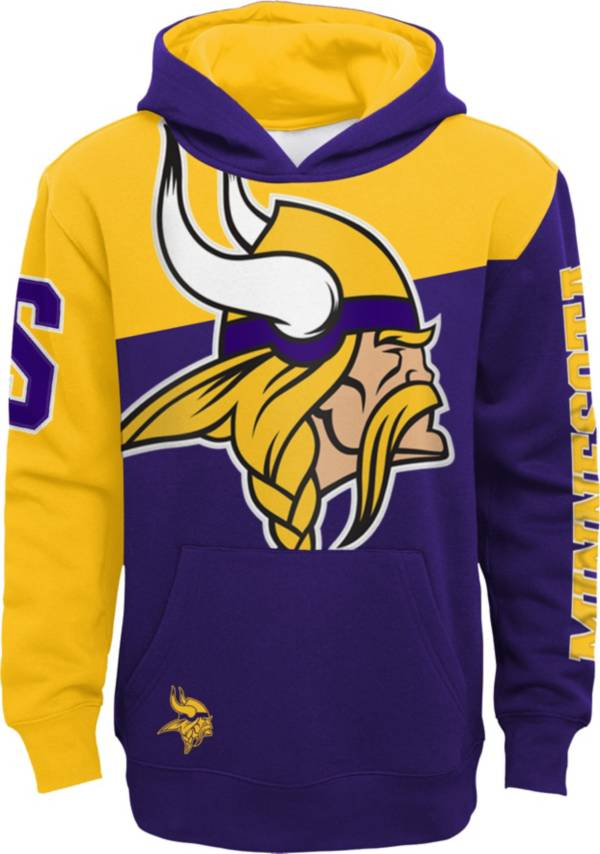 NFL Team Apparel Youth Minnesota Vikings QB Sneak Pullover Hoodie product image