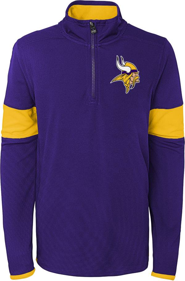 NFL Team Apparel Youth Minnesota Vikings Yard Line Purple Quarter-Zip product image