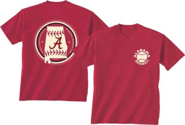 New World Graphics Men's Alabama Crimson Tide Crimson Baseball T-Shirt product image