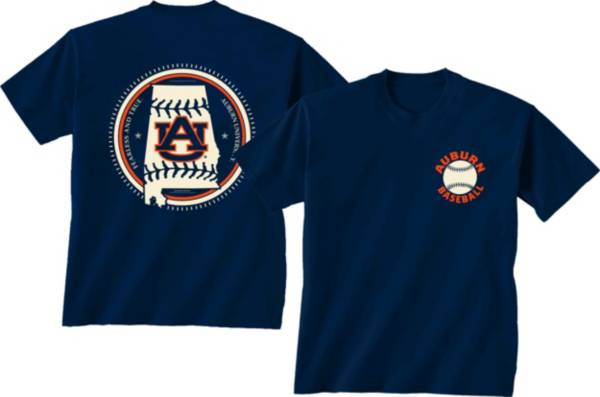 New World Graphics Men's Auburn Tigers Blue Baseball T-Shirt product image