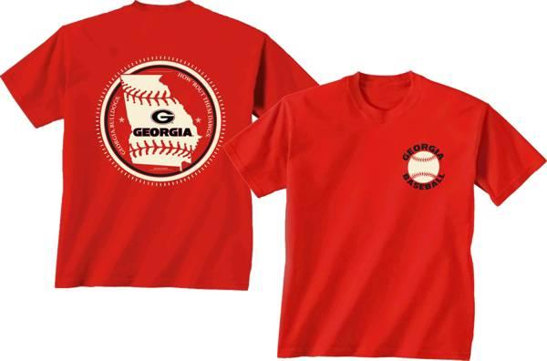 New World Graphics Men's Georgia Bulldogs Red Baseball T-Shirt product image