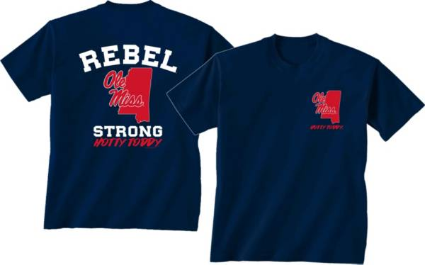 New World Graphics Men's Ole Miss Rebels Blue 'Strong' T-Shirt product image