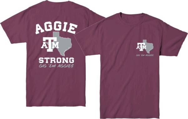 New World Graphics Men's Texas A&M Aggies Maroon 'Strong' T-Shirt product image