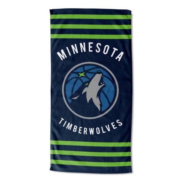 Northwest Minnesota Timberwolves Stripes Beach Towel product image