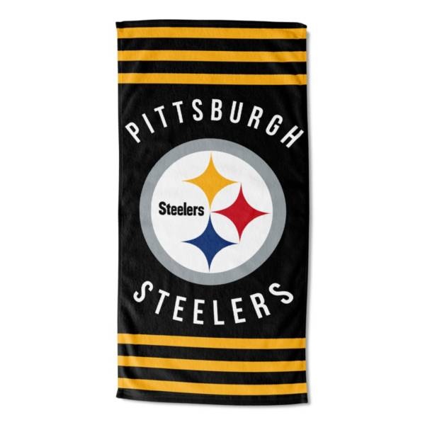 Northwest Pittsburgh Steelers Stripes Beach Towel product image